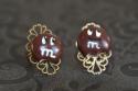 Petite bille de chocolat croquée